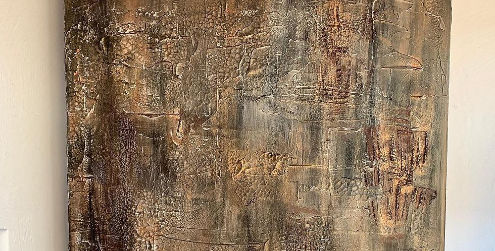 Tableau La Tourmente de Cathy Bitz du Nax, 100x70cm, Chassis 4,5cm bois du pin
