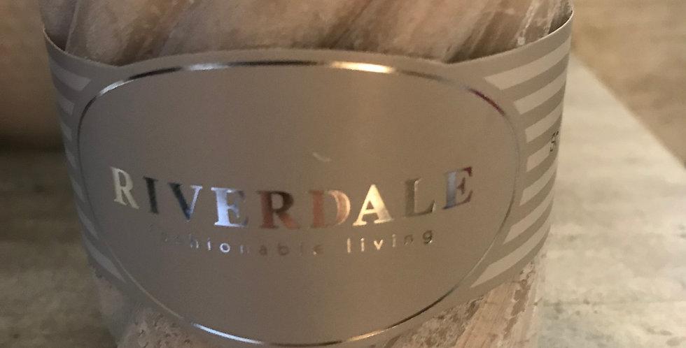 Riverdale Bougie parfumée structure, jasmine Tea, 10x10cm, ca. 80h