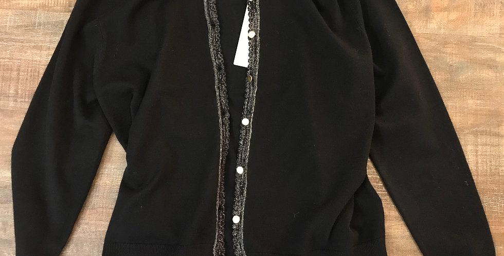 Veste noir-argenté, mélange viscose, Taille XL
