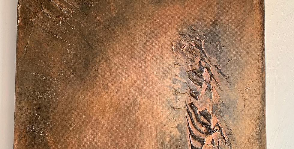Tableau la Lueur d Espo de Cathy Bitz du Nax, 40x50cm, Chassis 4,5cm bois du pin
