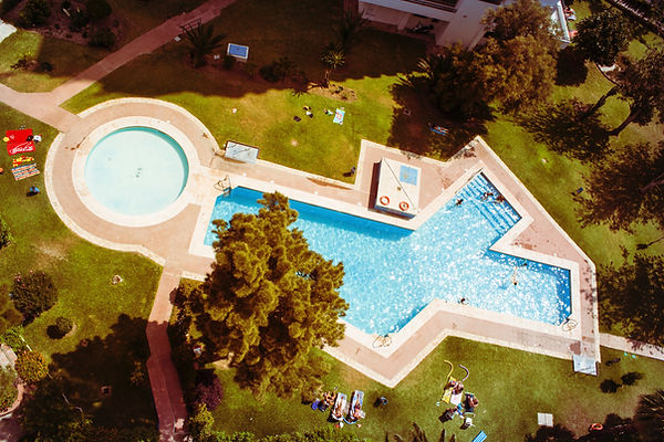 Drone outdoor pool