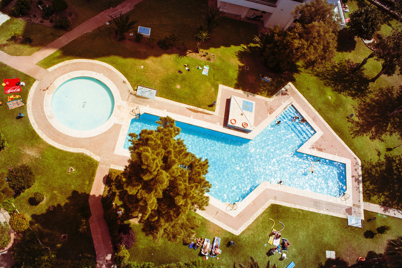 Outdoor Pool from Above