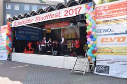 Bühnenwerbung Osterfelder Stadtfest