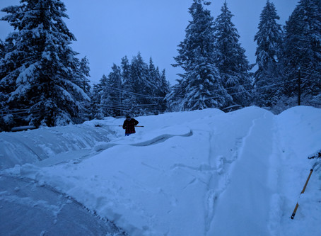 So much snow! What happened to our Mediterranean Climate!