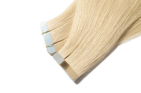 Tape in remy pre-bonded straight blonde