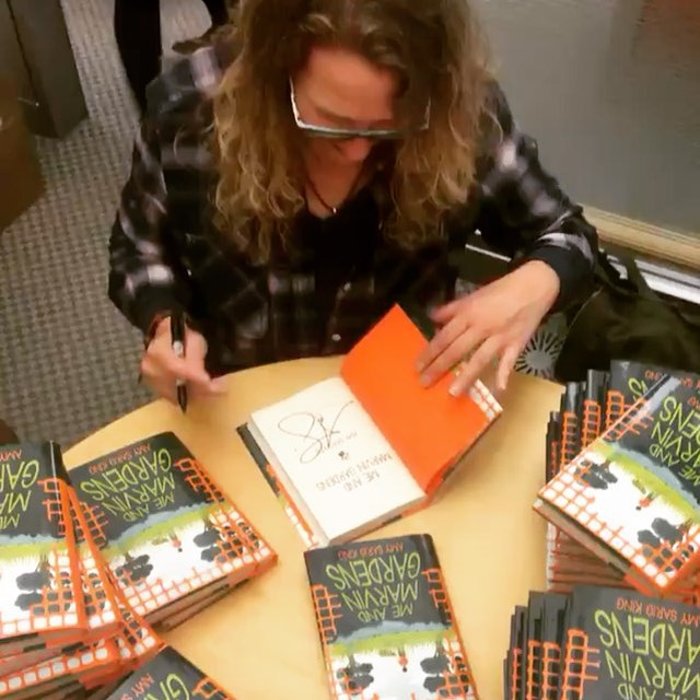 Great day at _scholasticinc yesterday signing some books.jpg