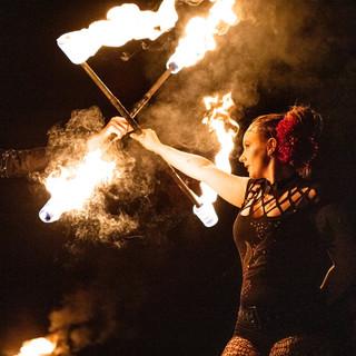 Epic fireshow na buskers festu 2019