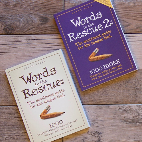 """""""Words to the Rescue"""" COMBO PACK. Save 10% when you buy both books!"""