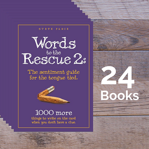 24 Words to the Rescue 2 Books -- 35% off Retail