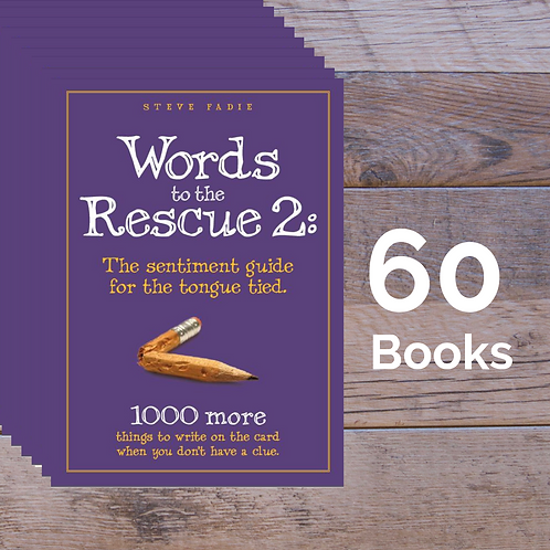 60 Words to the Rescue 2 Books -- 50% off Retail