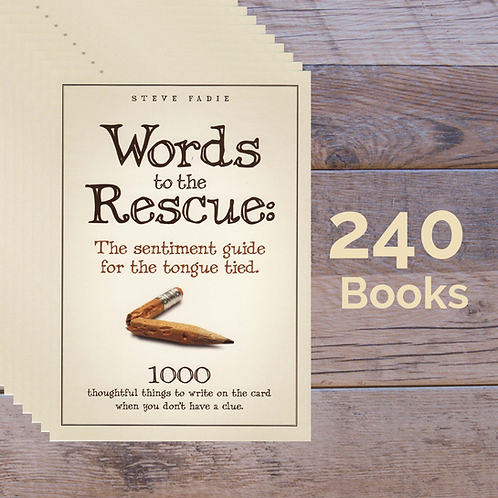 240 Words to the Rescue Books -- 60% off Retail