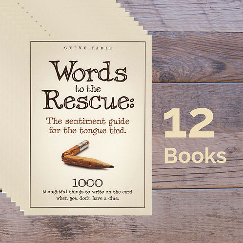 12 Words to the Rescue Books --20% off retail