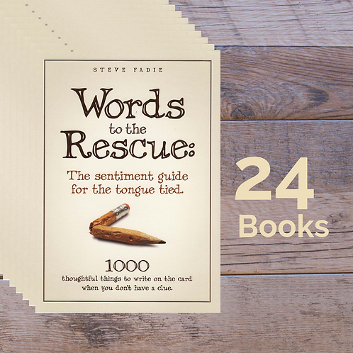 24 Words to the Rescue Books -- 35% off Retail