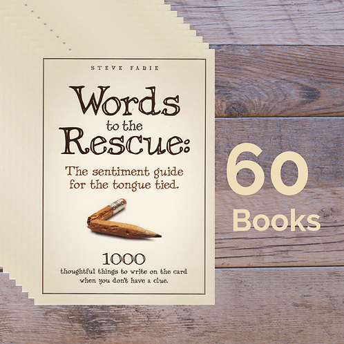 60 Words to the Rescue Books -- 50% off Retail