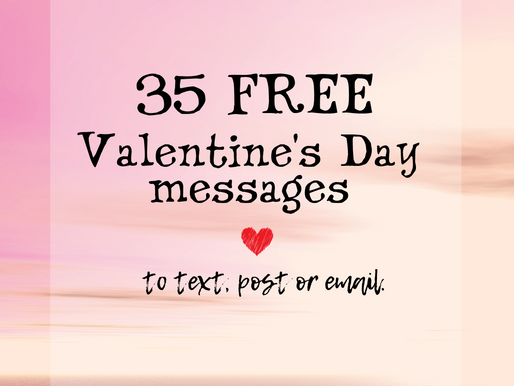 35 Valentine's Day Messages to text, tweet, post or email