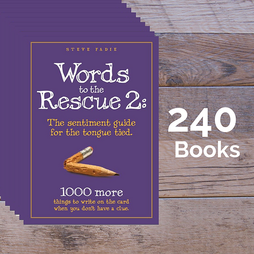 240 Words to the Rescue 2 Books -- 60% off Retail