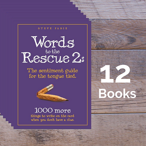 12 Words to the Rescue 2 Books -- 20% off Retail