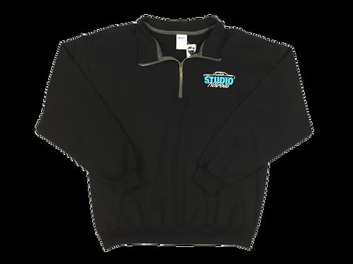 SHR Collar Black Sweatshirt