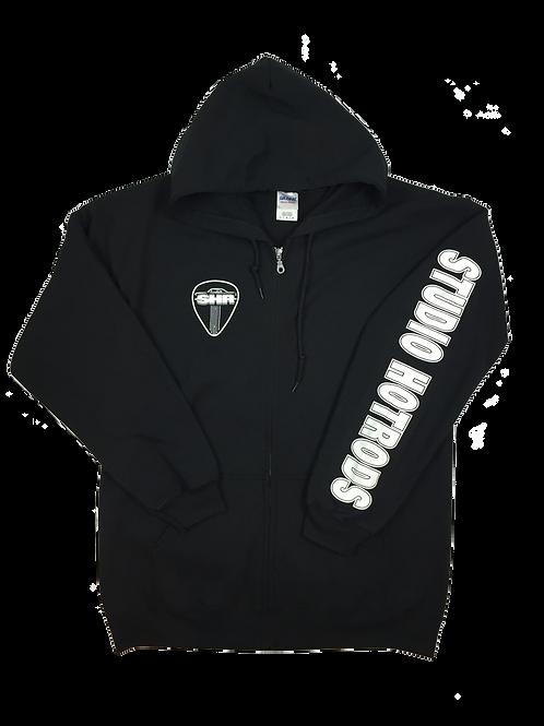SHR Zip Black Hooded Sweatshirt