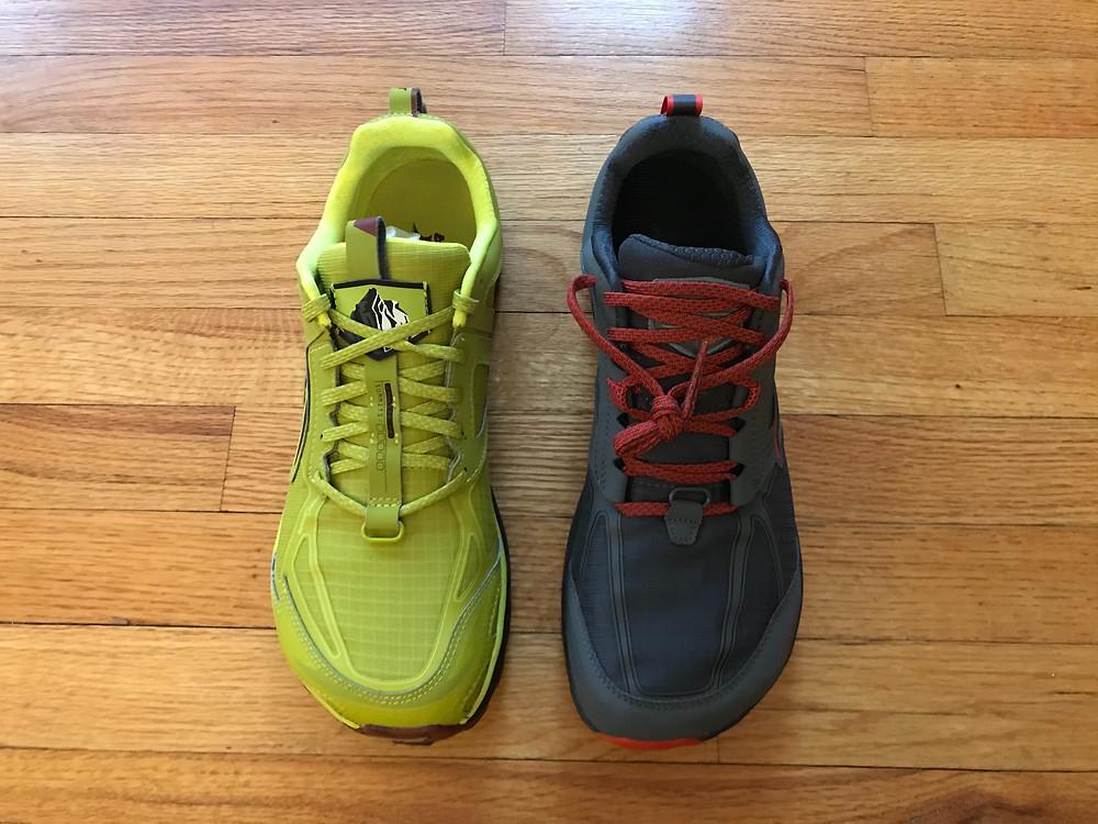 Altra Lone Peak 4.5 (left) and the Altra Lone Peak 4.0 (right)