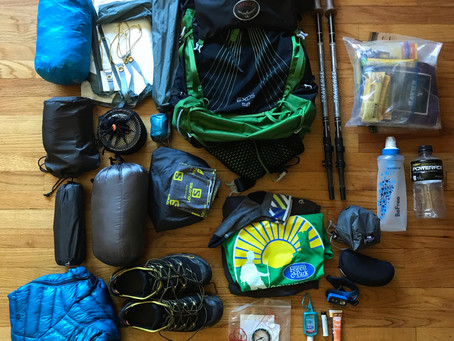 Lightweight 3-Season Backpacking Gear List