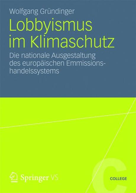 Lobbyismus im Klimaschutz - Buch-Cover