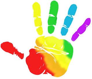 Inclusive hand print