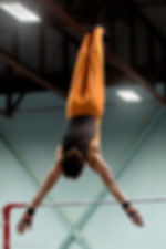 High bar gymnast