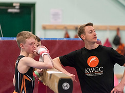 Head MAG coach Josh and athletes