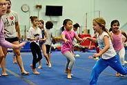 Girls having fun in the girls recreational class