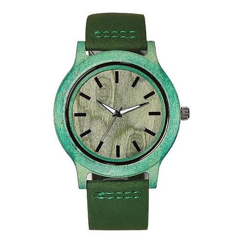 Blue Bamboo Wood Unisex Watch