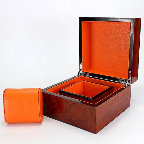 Red Wood Style Box Holder reloj relogio woodgrained box Jewelry PU Leather