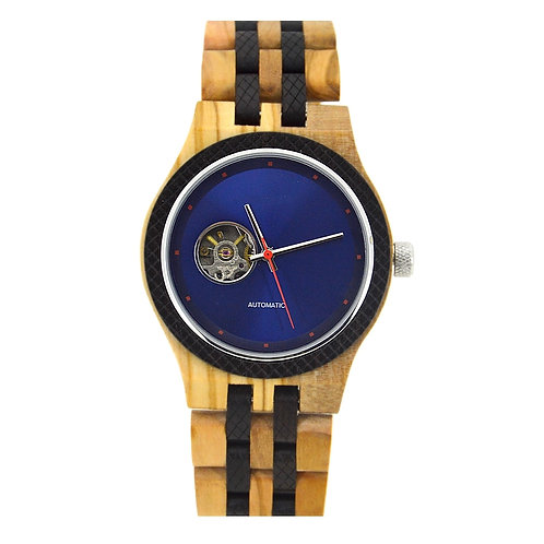 New EcVendor Italy Olivewood Sandalwood Automatic Natural time for Men