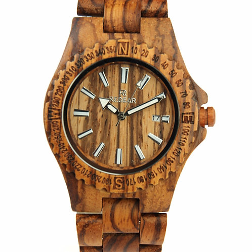 Men Fashion Casual Wood Quartz Full Natural Wood watch