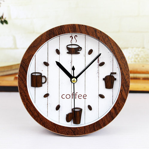 New CoffeeHome Wall Clock Wood Wall clock