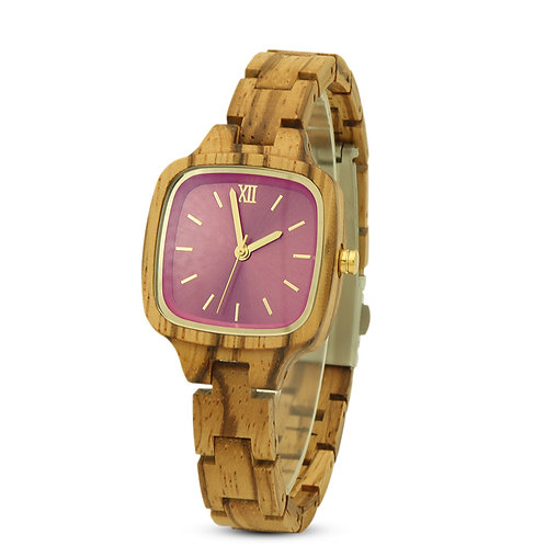 New Lady Square Wood Wristwatch Women Woodwear from EcVendor