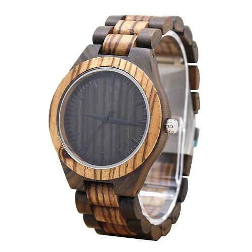 New Zebra Wooden Watch Casual Wood Quartz Watch EcVendor