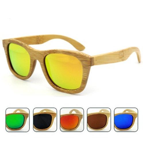 Hot Unisex Natural Bamboo Eyewear uv400 Wood Luxury Natural Sunglass