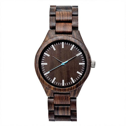 New EcVendor Wood Sandal Black Wristwatch