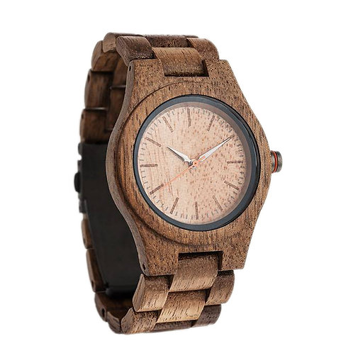 NEW Walnut Wood Men Wristwatch Men Wooden Watch from EcVendor
