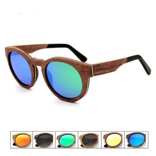 Hot Unisex Fashion Eyewear Zebra Wood Luxury Natural Sunglass