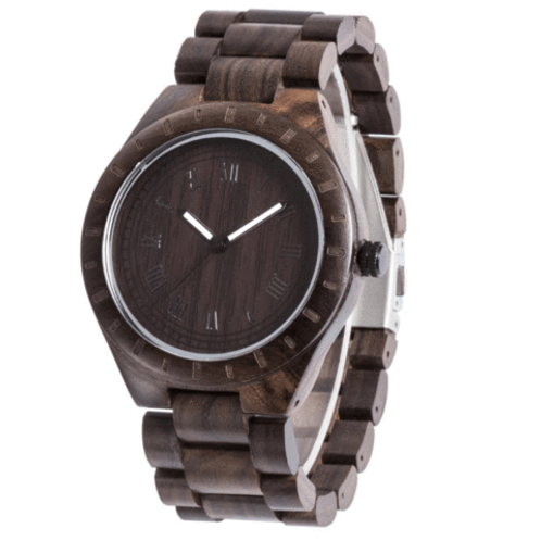 Men Blacksandalwood Classic Watch 100% Handicrafted Natural Wood