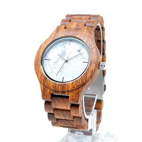 Marble Wood Watch Stone mixed Walnut Men Wristwatch