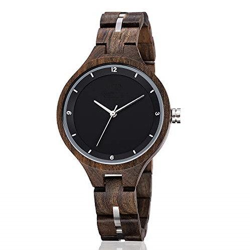 Lady New Wood Wristwatch Custom Logo Wood Watch EcVendor