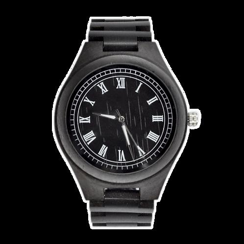 NEW ROMAN Style Wooden Wristwatch Black Wood Men Watch