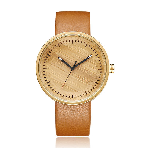 Bamboo Wood Watch Mens Women Wooden Wristwatch Leather Original Lover Gifts