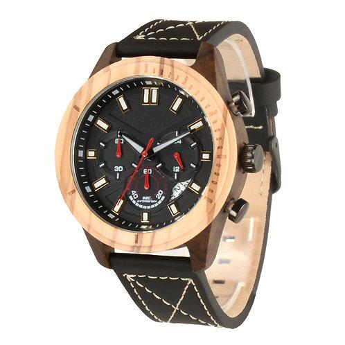 Men Wooden Chronograph Watches Men's Top Brand Luxury Olive Wood Watch