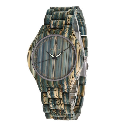 Men and women Casual Wood Quartz Full Natural bamboo watch