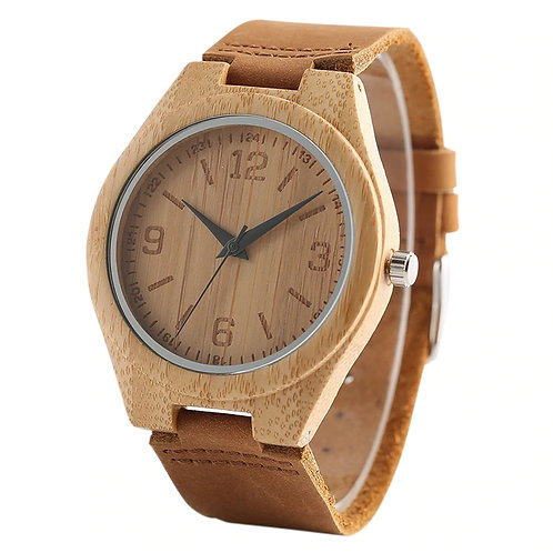 New Men Unisex Bamboo Watch100% Handicrafted Eco Wear EcVendor