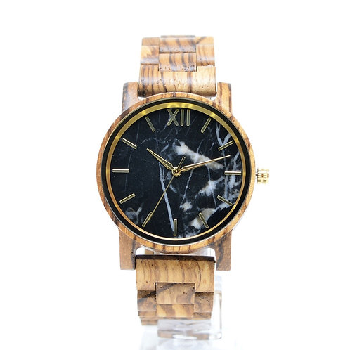 Black Marble Watch Men Stone Wristwatch from EcVendor